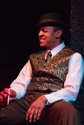 The music of Fats Waller, sung by Christopher Jones, in Ain't Misbehavin'.