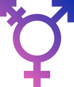 A symbol used by the transgender community.