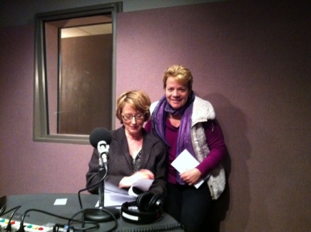 Sheilah Kast, left, with Marin Alsop, conductor of the Baltimore Symphony Orchestra.