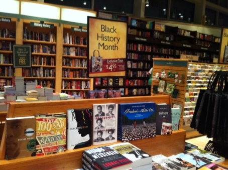 A display of books at Barnes and Noble