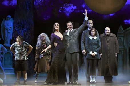 "The cast of  ""The Addams Family,"" now at the Hippodrome."