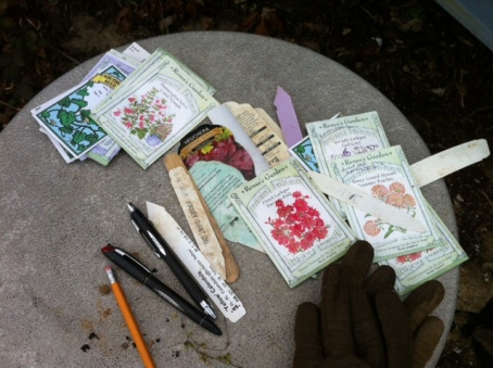 A few of Anne's favorite seed packets.