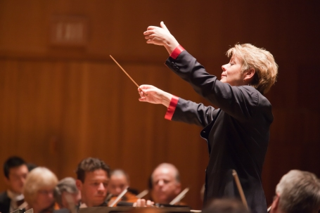 Baltimore Symphony Orchestra director Marin Alsop.  Photo by Chris Lee.